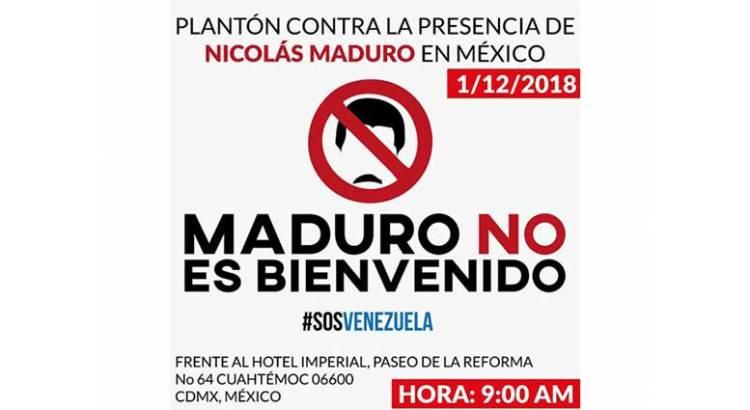 Convocan plantón en Reforma