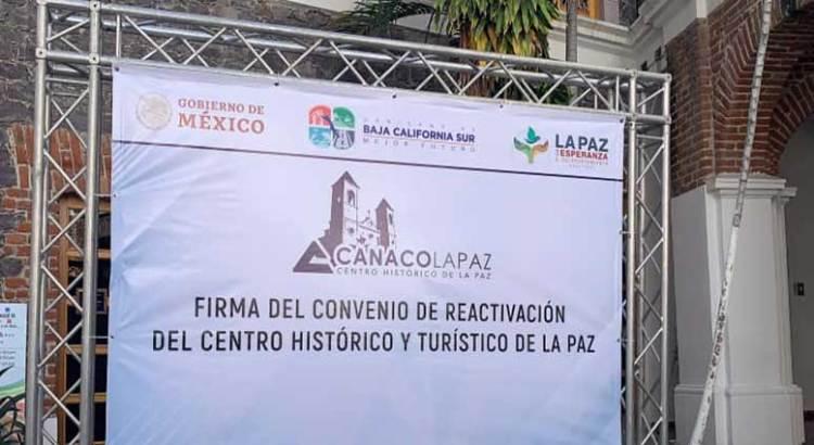 Firman Convenio de Reactivación del Centro Histórico