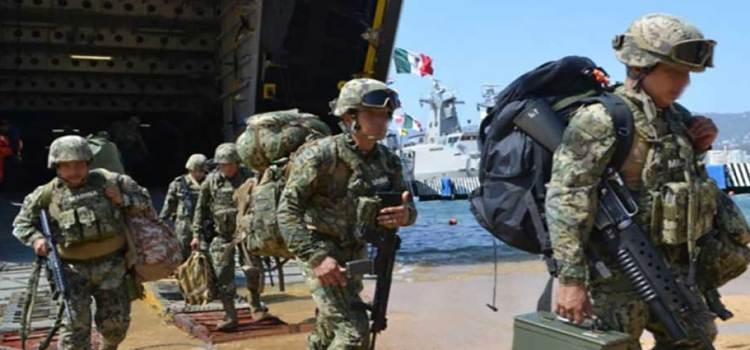 Arriban más de 150 marinos a Acapulco