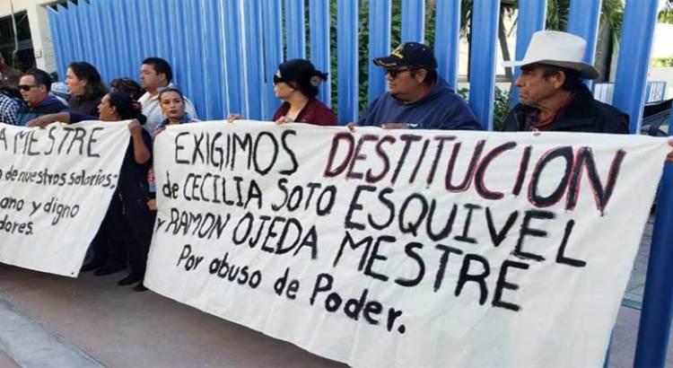Exigen trabajadores del SAPA la destitución de Ramón Ojeda Mestre
