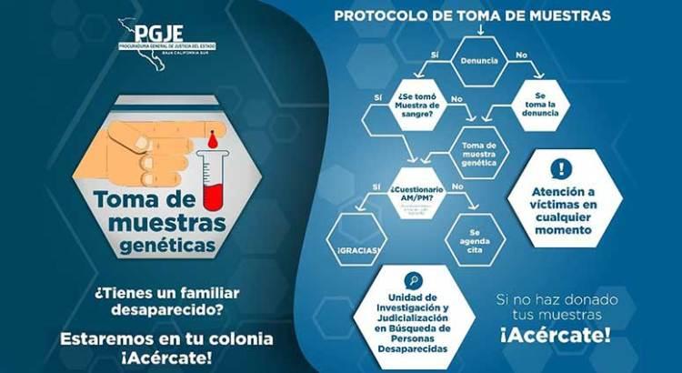 Invita PGJE a toma de muestras de ADN