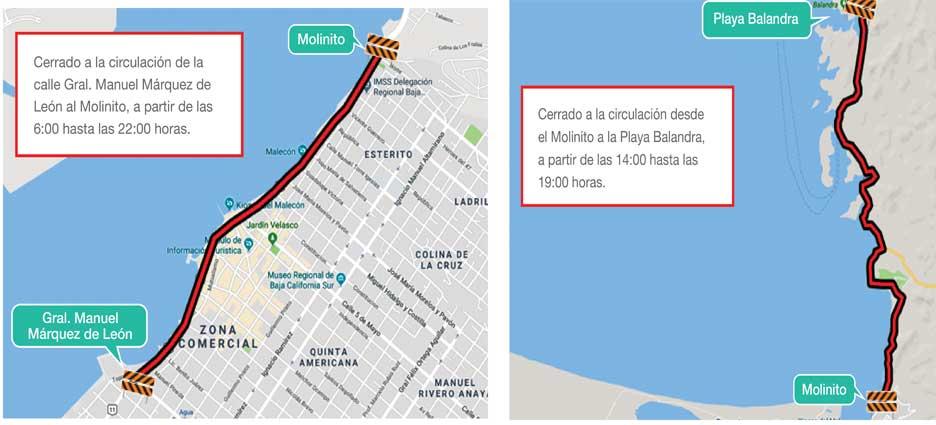 Cerrarán vialidad en el Malecón hasta Balandra