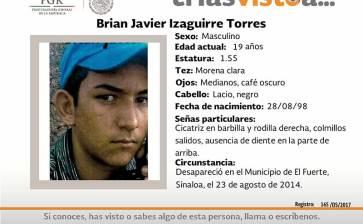 ¿Has visto a Brian Javier Izaguirre?