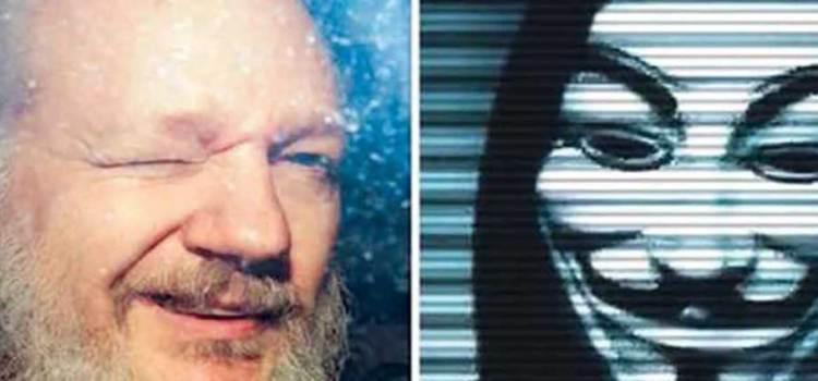 Desenvaina Anonymous su espada por Assange