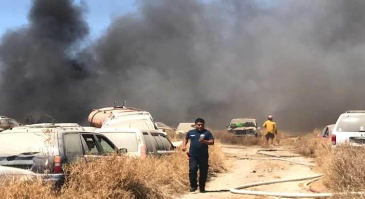 Se incendió el corralón municipal en CSL