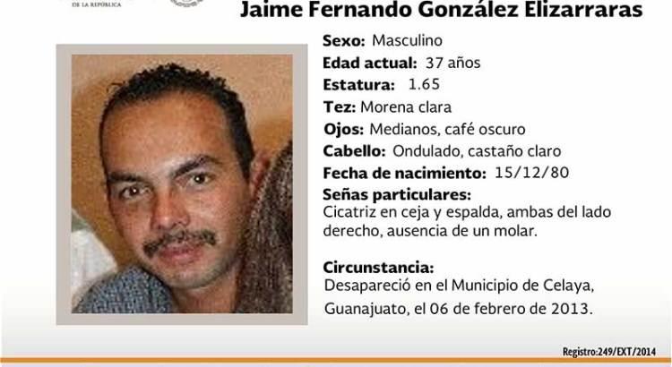 ¿Has visto a Jaime Fernando González Elizarrarás?