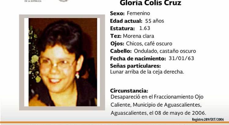 ¿Has visto a Gloria Colis Cruz?