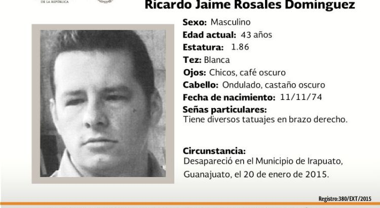 ¿Has visto a Ricardo Jaime Rosales Domínguez?