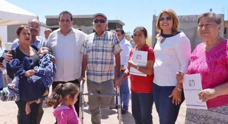 Se benefició a familias de Santa Rosalía con apoyos de vivienda