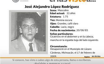 ¿Has visto a José Alejandro López Rodríguez?