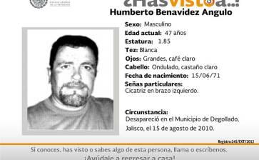 ¿Has visto a Humberto Benavidez Angulo?