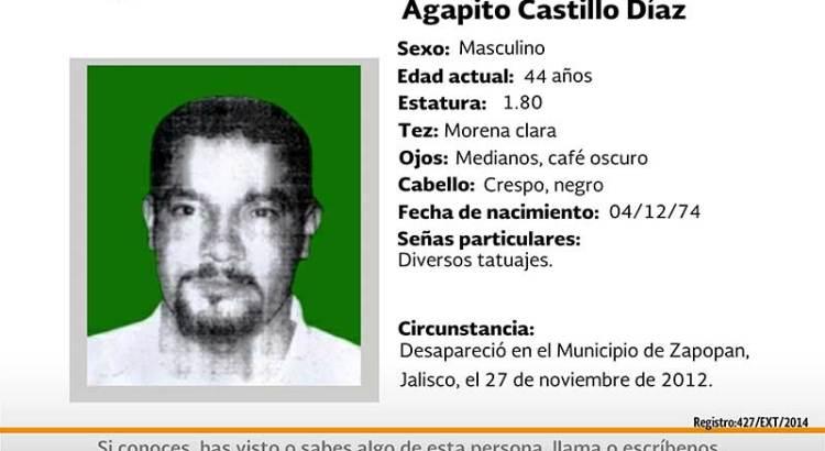 ¿Has visto a Agapito Castillo Díaz?