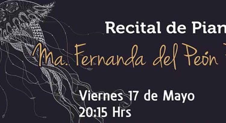 Ofrecerá María Fernanda del Peón un recital del piano