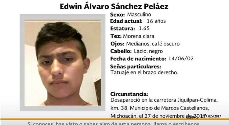 ¿Has visto a Edwin Alvaro Sánchez Peláez?