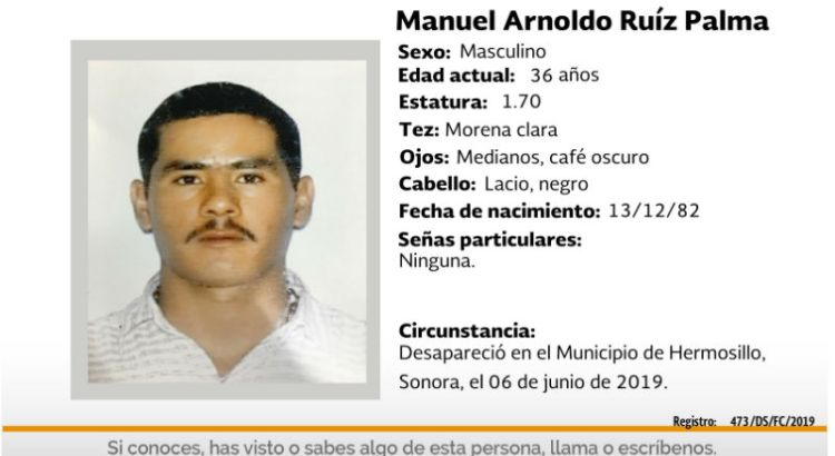 ¿Has visto a Manuel Arnoldo Ruiz Palma?
