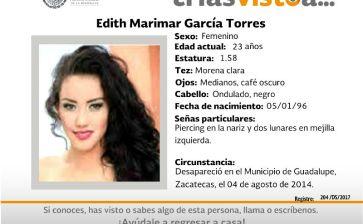 ¿Has visto a Edith Marimar García Torres?