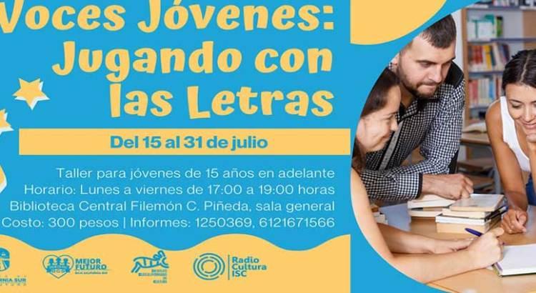 Invitan a «Voces Jóvenes: Jugando con las Letras»