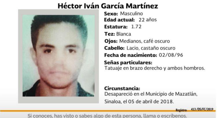 ¿Has visto a Héctor Iván García Martínez?