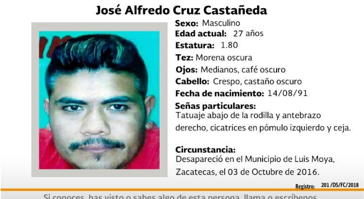 ¿Has visto a José Alfredo Cruz Castañeda?