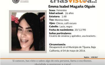 ¿Has visto a Emma Isabel Magaña Olguín?