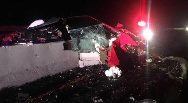 Fatal accidente en la carretera al sur
