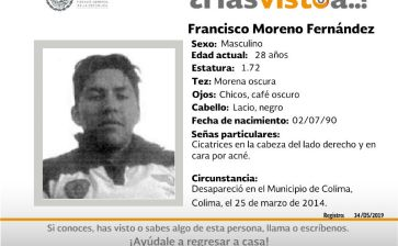 ¿Has visto a Francisco Moreno Fernández?