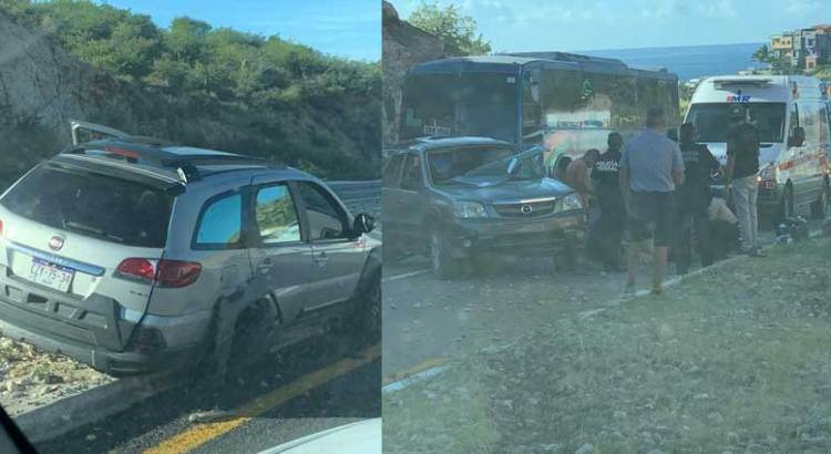 Doble accidente en la Transpeninsular