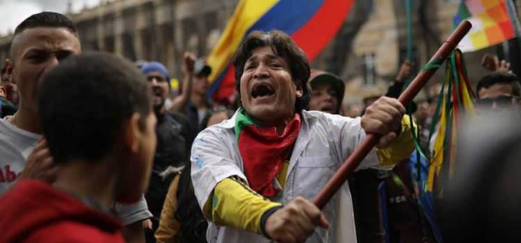 Convocan a nuevo paro nacional en Colombia
