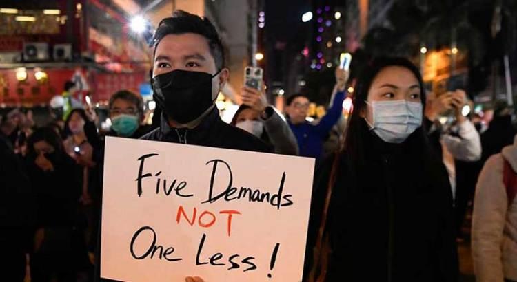 Dan manifestantes ultimátum al gobierno de Hong Kong