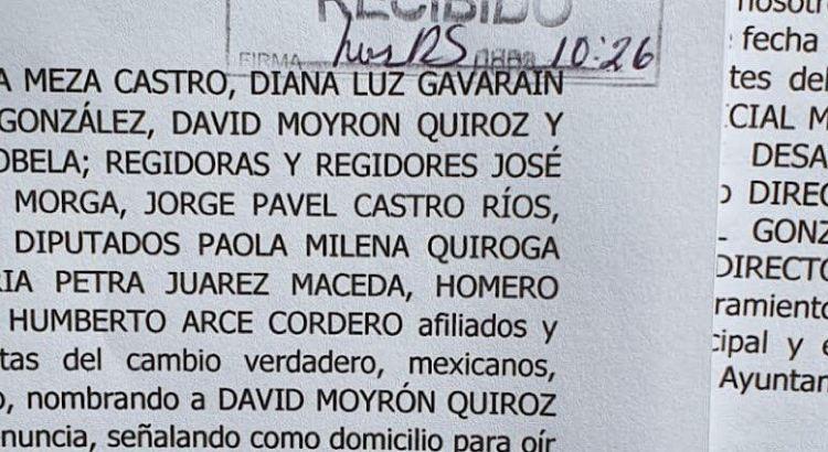 Exigen la expulsión del alcalde Rubén Muñoz de Morena
