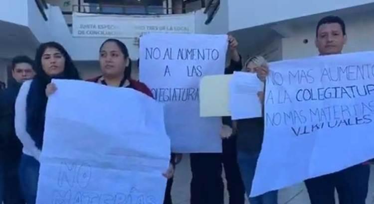 Se manifestaron alumnos de la UNIDEP