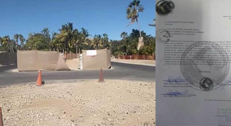 Ilegal la caseta que se construye en Playa Palmilla