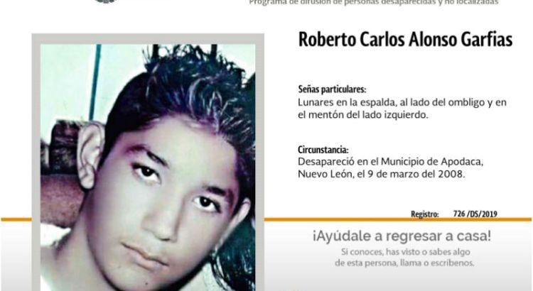 ¿Has visto a Roberto Carlos Alonso Garfias ?