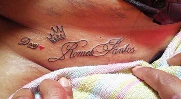 Se tatuó el nombre de su bachatero favorito