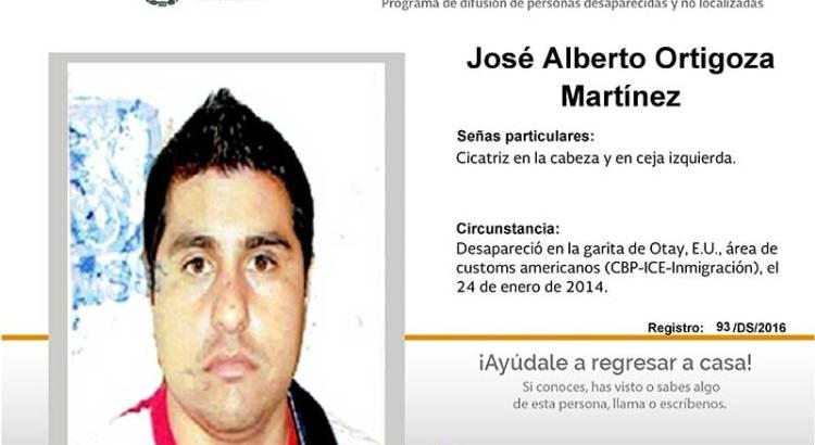 ¿Has visto a José Alberto Ortigoza Martínez?