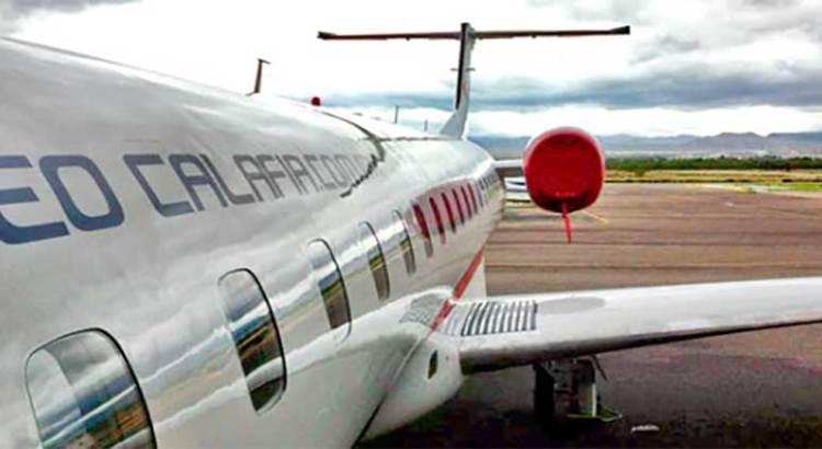 Aterrizó de emergencia avión de AeroCalafia