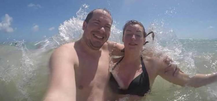 Perdieron su cámara en el mar
