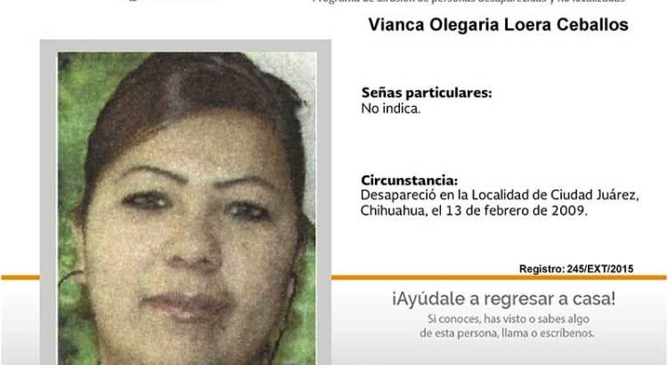 ¿Has visto a Vianca Olegaria Loera Ceballos?