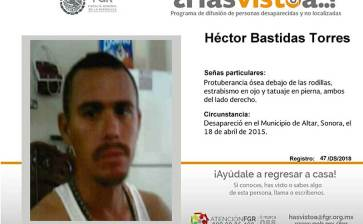 ¿Has visto a Héctor Bastidas Torres?