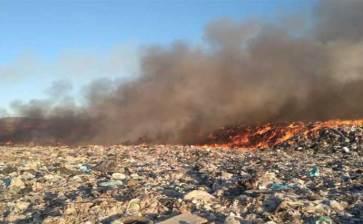 Se incendió el relleno sanitario de La Paz