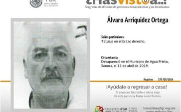 ¿Has visto a Alvaro Arriquidez Ortega?