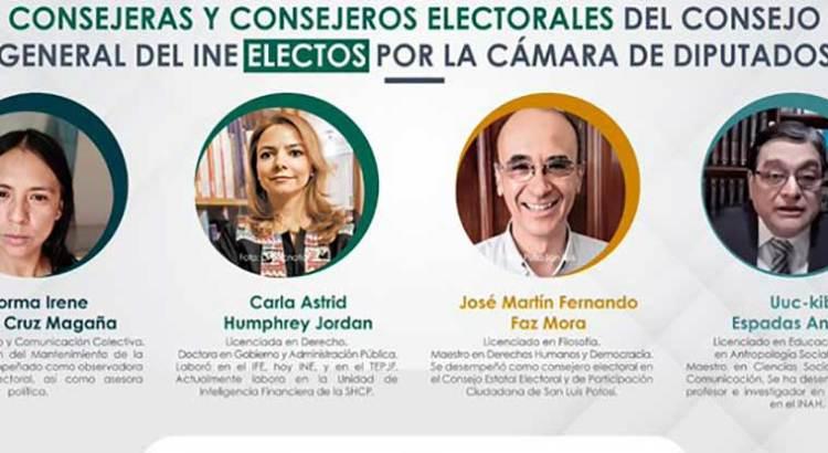 Eligen Diputados a 4 nuevos consejeros del INE