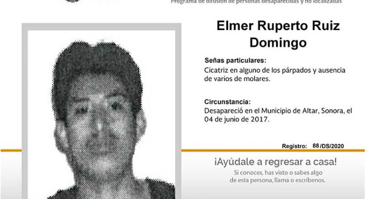 ¿Has visto a Elmer Ruperto Ruiz Domingo?