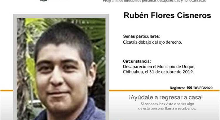 ¿Has visto a Rubén Flores Cisneros?