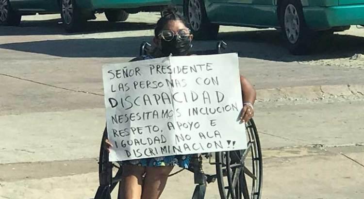 Inclusión le piden discapacitados al Presidente