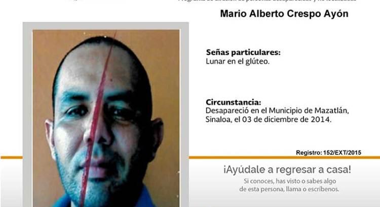 ¿Has visto a Mario Alberto Crespo Ayón?