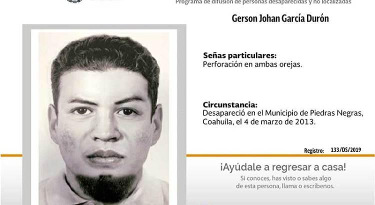 ¿Has visto a Gerson Johan García Durón?