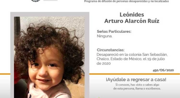 ¿Has visto a Leónides Arturo Alarcón Ruíz?