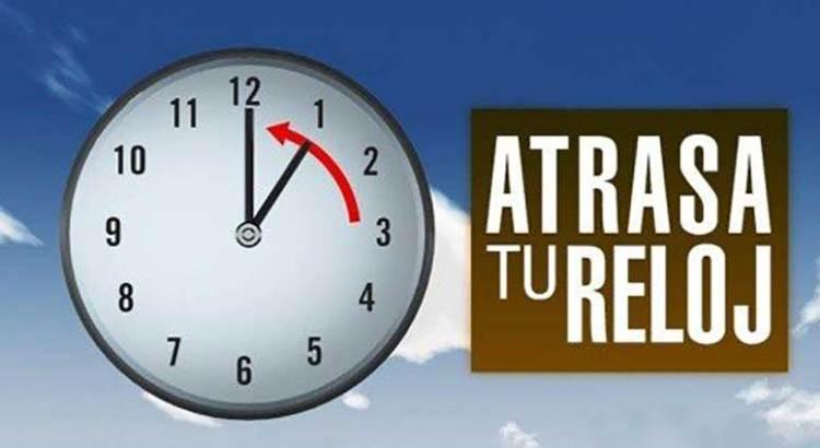 No olvides atrasar una hora tu reloj