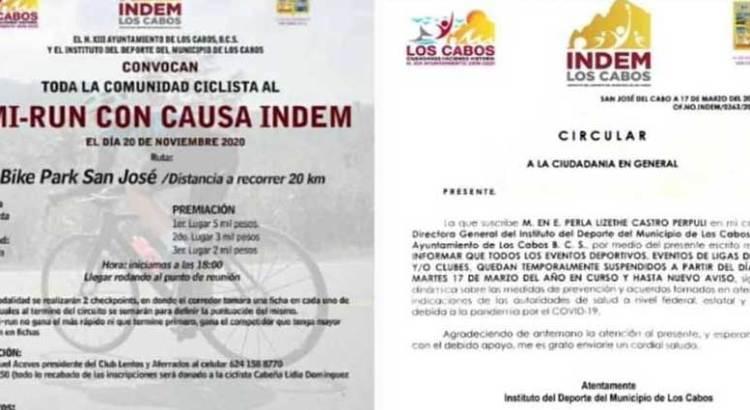 Convoca gobierno de Los Cabos a evento ciclista en plena pandemia